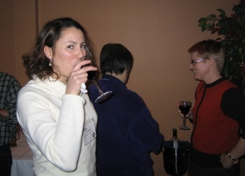 Jean, Maxine and Karen enjoy refreshments at the reception.