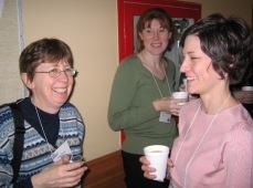 Linda, Christine and Leah enjoy a break.