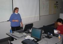 Michelle and Gail prepare to compute.