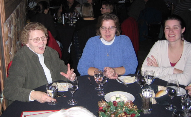 Michelle's Mom, Michelle and Sage enjoy a good story.