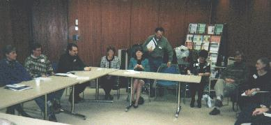Left to right: Dana, Bruce, Chris, Corene, Elizabeth, Walter, Barb, Francois & Mary