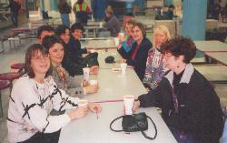 Left side, front to back: Darlene, Hilde, Walter, Nicole, Barb. Right side, front to back: Sharon, Christine, Anna, Marilyn A.