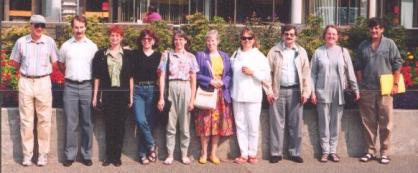 Left to Right: Walter, Gary, Sharon, Elizabeth, Darlene, Fran, Phyllis, Doug, Marilyn, and Garth. Not in Photo: Hilde, Lynda, Hazel, Chuck and Anna (who took photo)